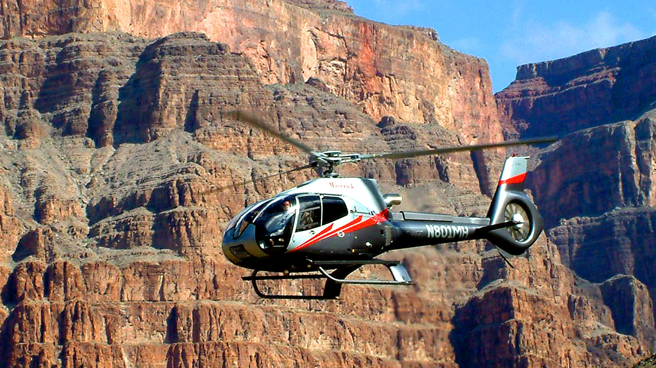 Take a helicopter ride through the Grand Canyon to multiple destinations on the tour