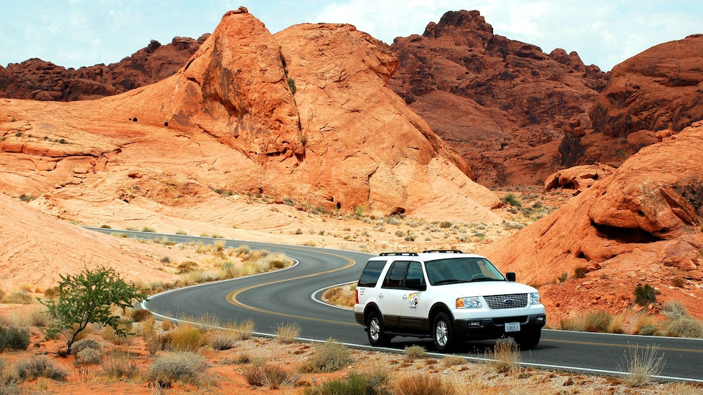 Show item 4 of 5. Traverse the Valley of Fire in a comfortable, air conditioned sports utility vehicle