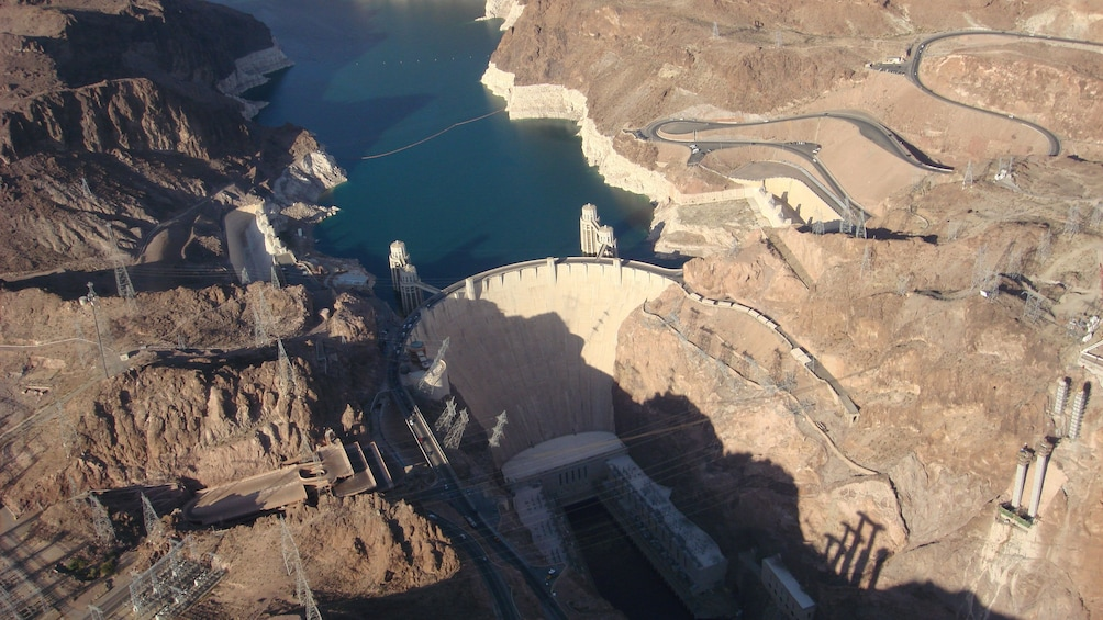 Show item 8 of 8. Daytime aerial view of Hoover Dam in Arizona