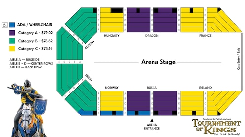 Seating Chart For The Tournament Of Kings