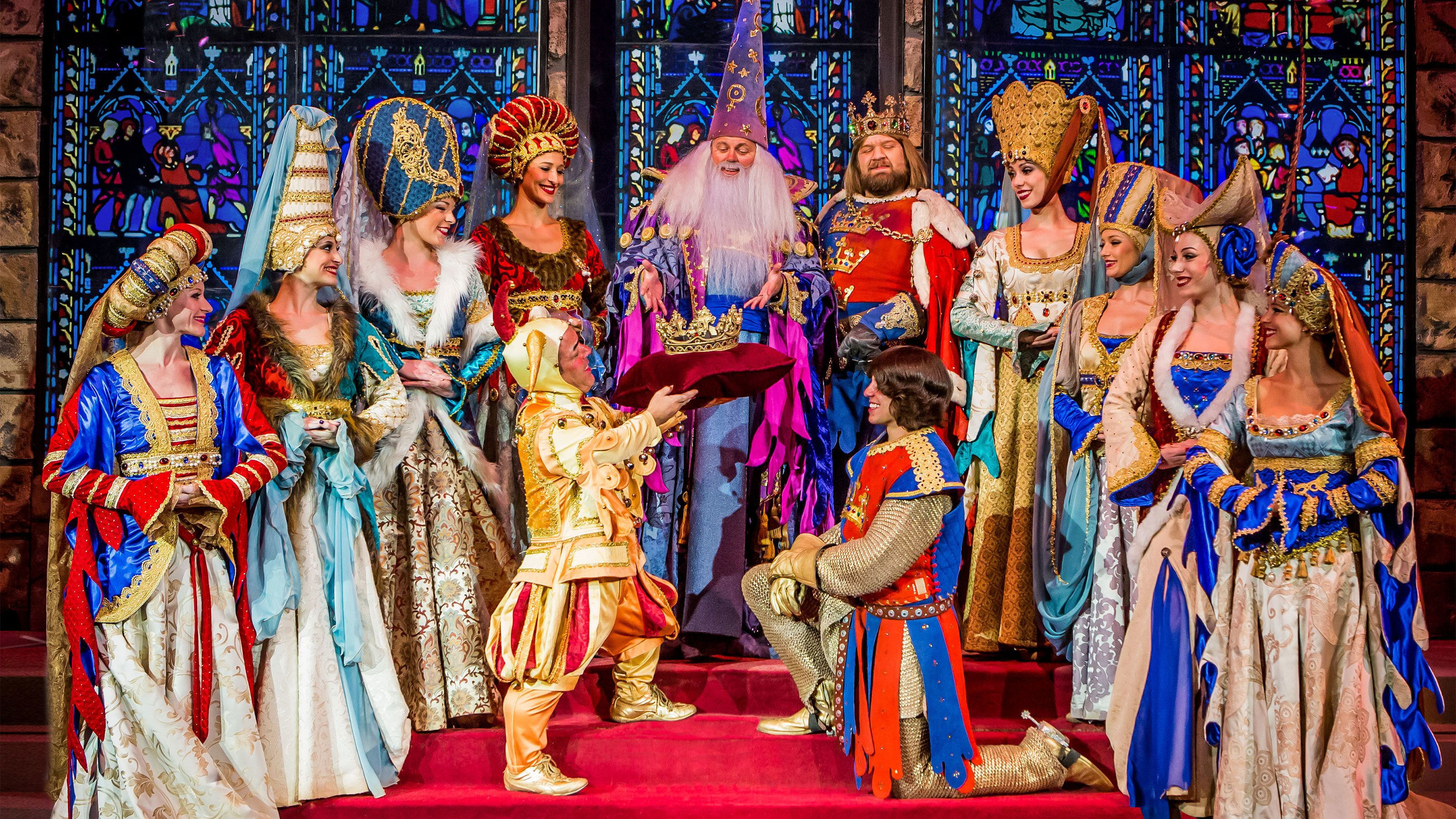 A new king is crowned at the tournament of kings dinner show at the Excalibur hotel and casino