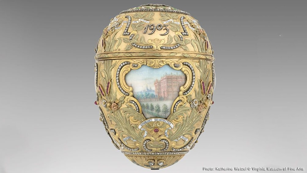Carregar foto 1 de 6. Fabergé Revealed Exhibit with one of four Imperial Easter Eggs at the Bellagio Gallery of Fine Art