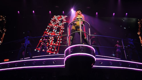 Moulin Rouge performance at Coco Bongo in Riviera Maya