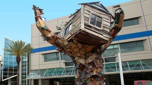 Hurricane Katrina tree sculpture in New Orleans