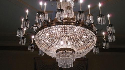 Light fixture inside the Bourbon Orleans Hotel