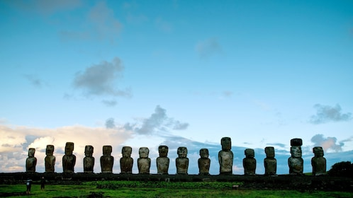 Row of statues in Easter Island