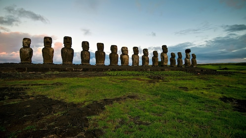 Statues and sculptures at seen on Easter Island