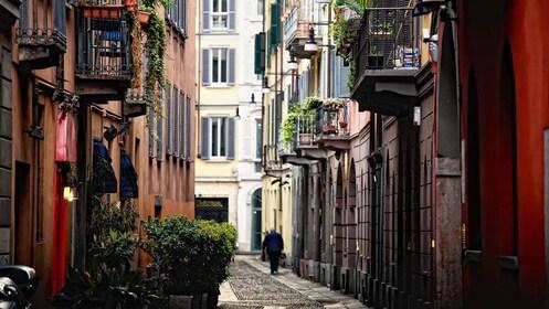 city street in milan