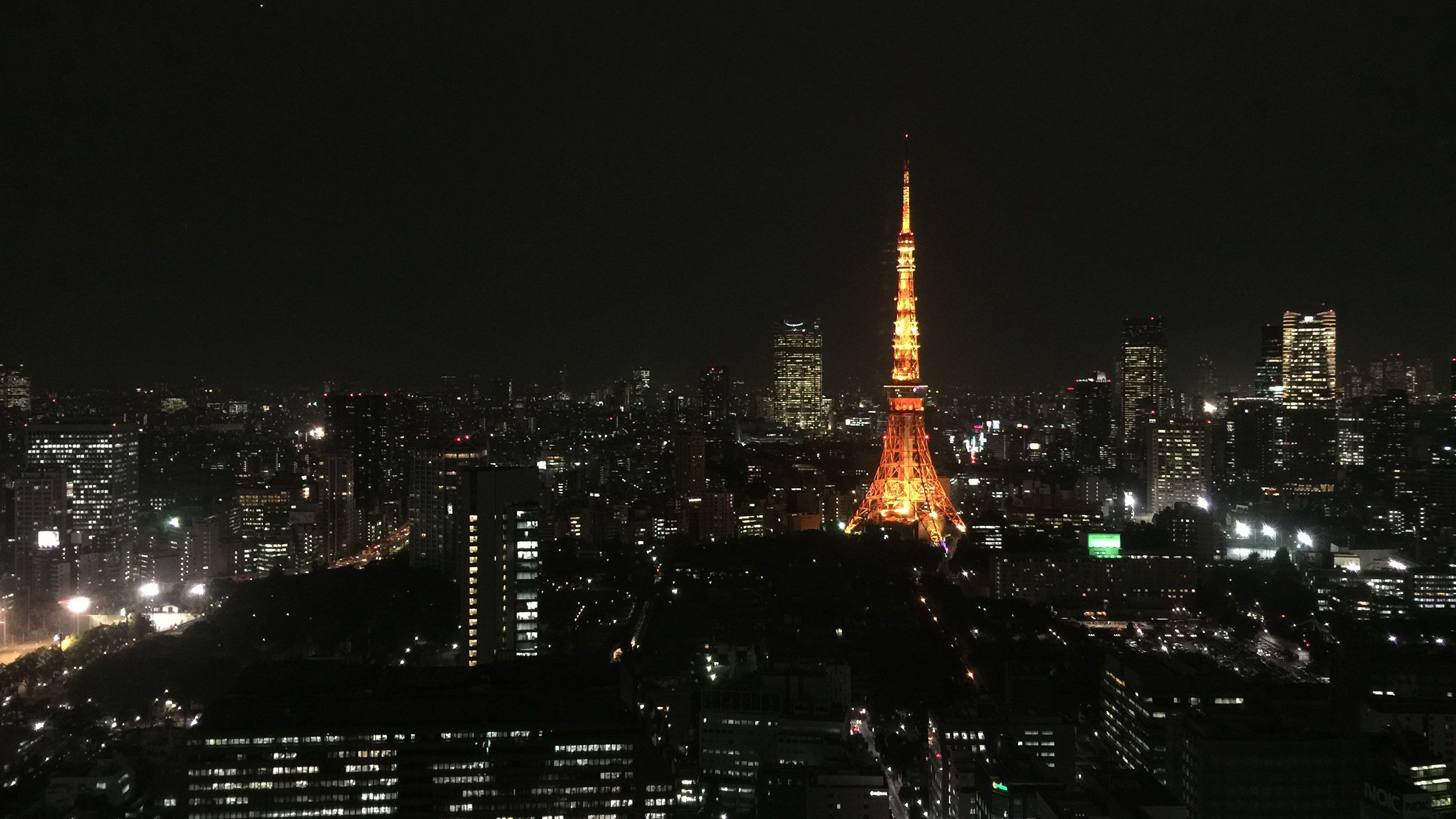 city view at night in Tokyo