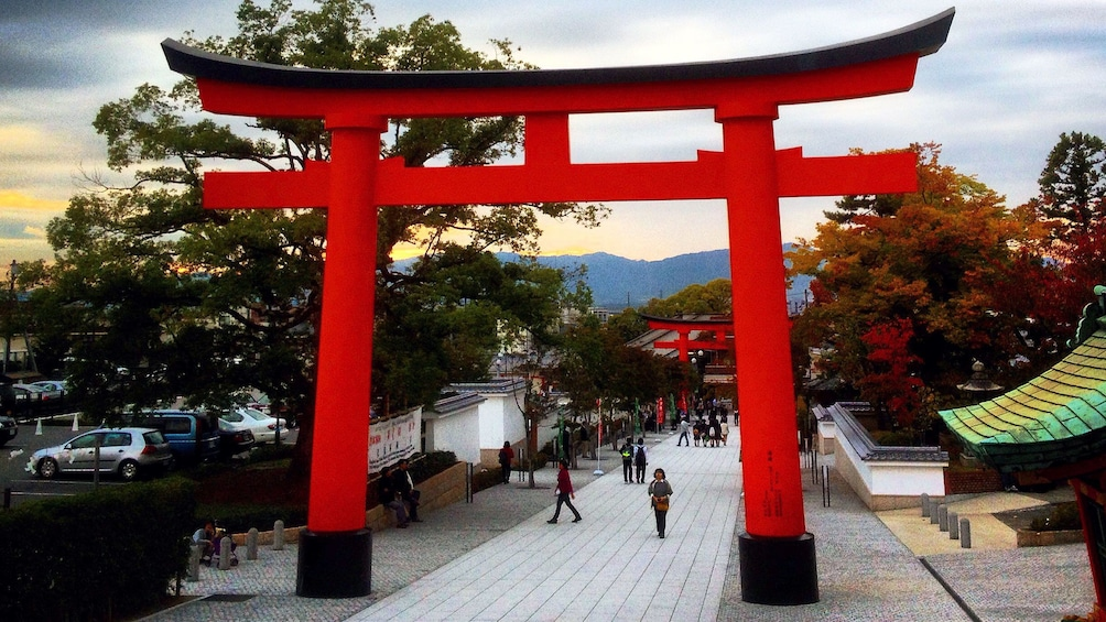 Show item 3 of 5. The grounds of Fushimi Inari shrine in Kyoto