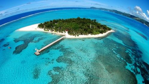 Aerial view of Mañagaha Island in Saipan