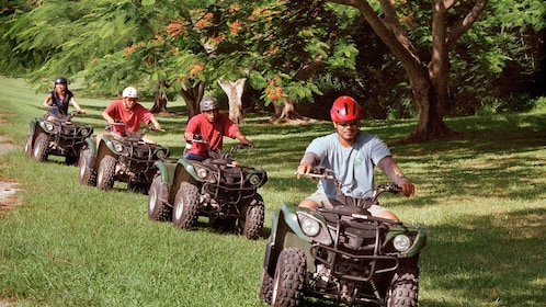 Group on a buggy adventure in Saipan