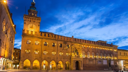 Palazzo d'Accursio in the Piazza Maggiore in Bologna
