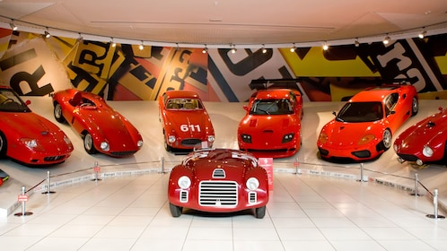 An assortment of ferraris from different years in Bologna