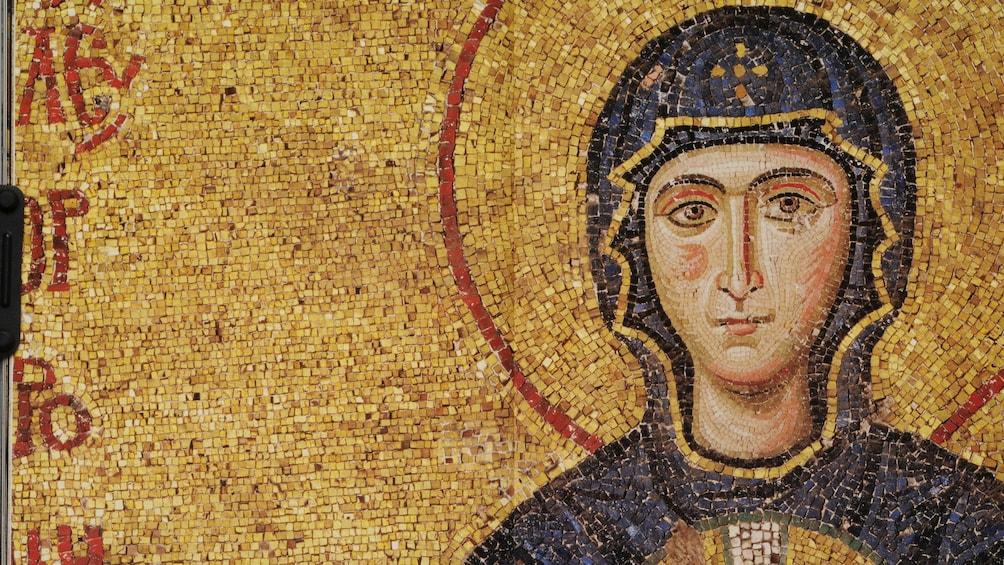 Carregar foto 2 de 5. Mosaic inside the Hagia Sophia in Istanbul