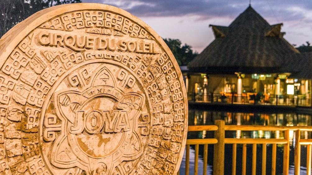 Carregar foto 1 de 8. Sign and entrance to Cirque Du Soleil's Joya show in Cancun