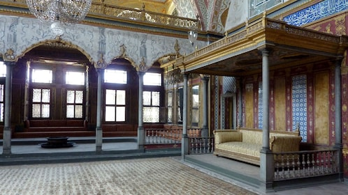 Interior view of Topkap? Palace in Turkey