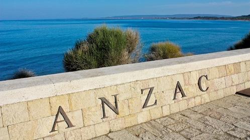 Anzac Cove on the Gallipoli peninsula in Turkey