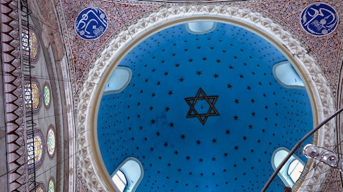 Dome Inside the Ashkenazi Synagogue of Istanbul