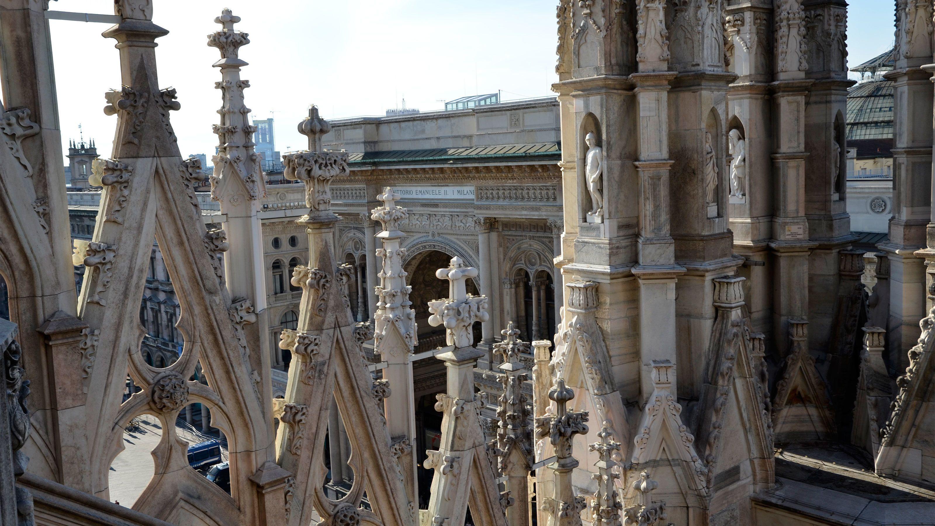 Building architecture closeup in Milan