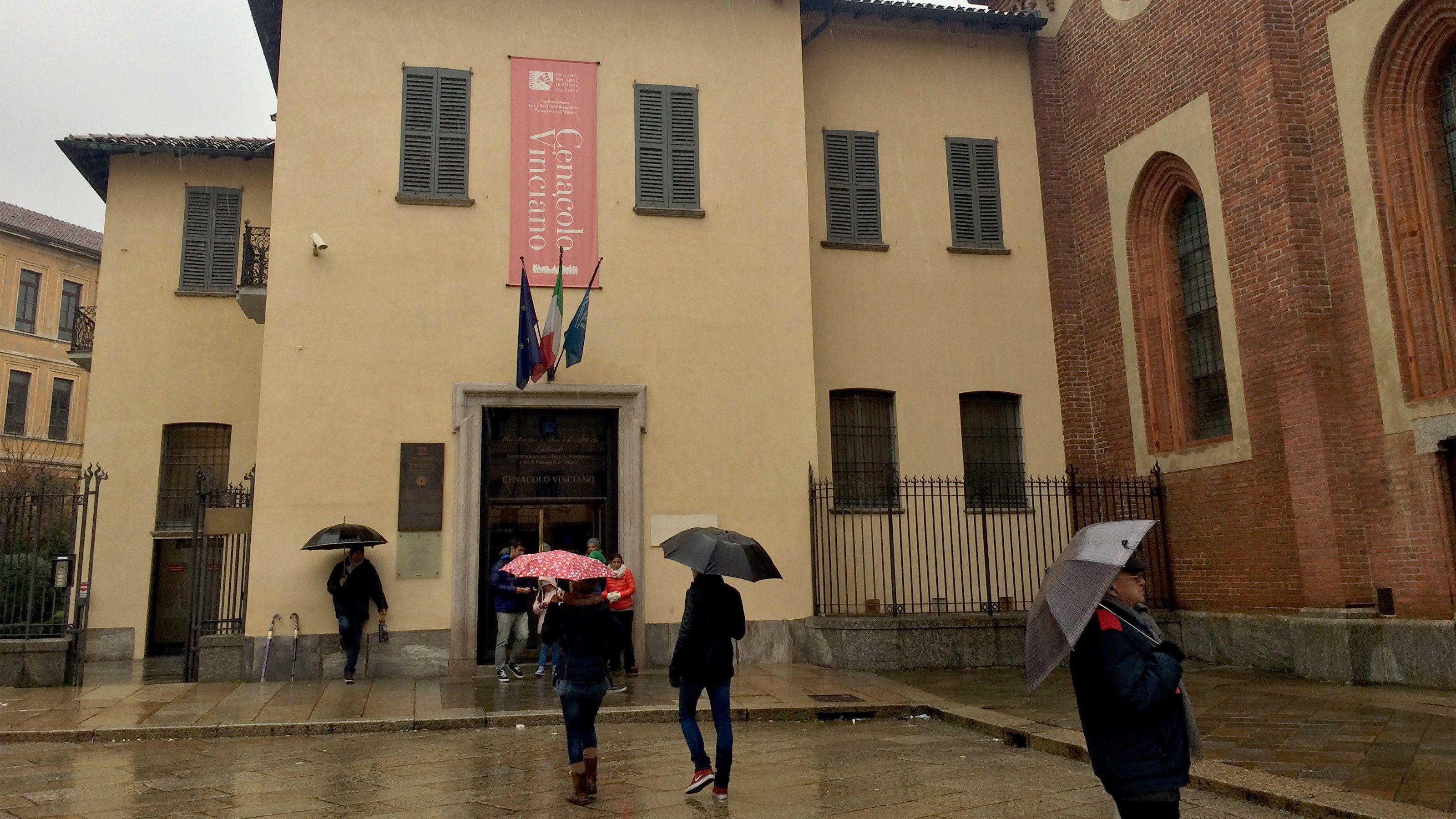 building entrance in Milan
