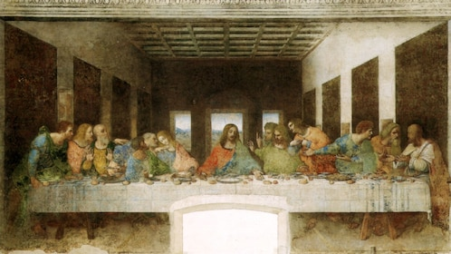 Last supper painting in milan