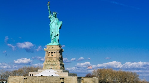 Statue of Liberty and Liberty Island in New York