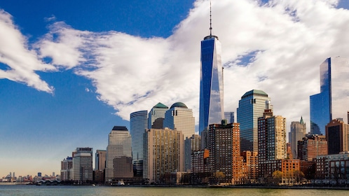 New York city skyline and shore