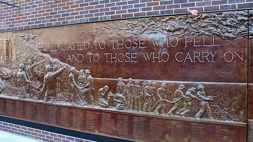 Commemorative plaque at the National September 11 Memorial and Museum in New York