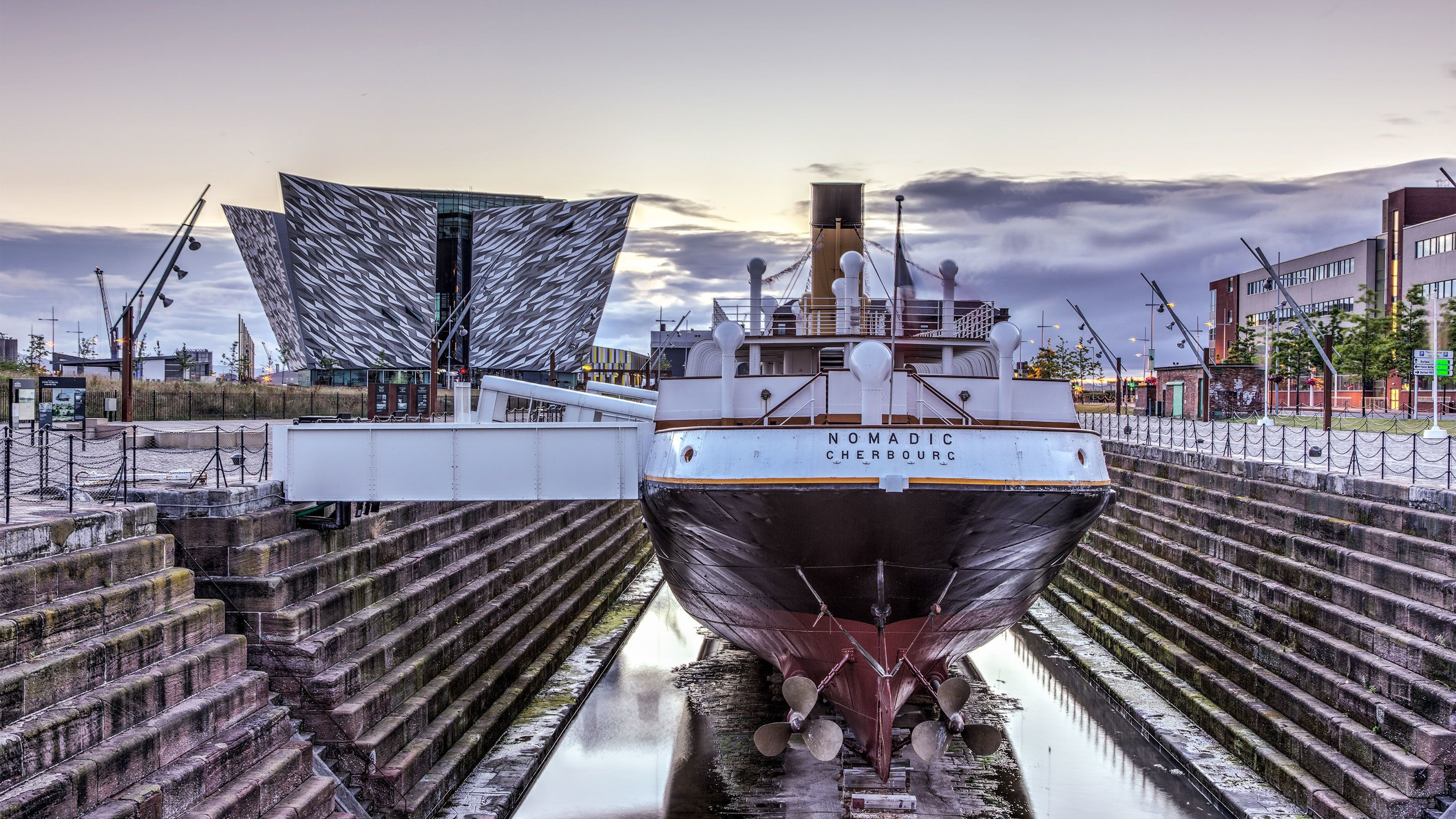 Boat on display in Ireland