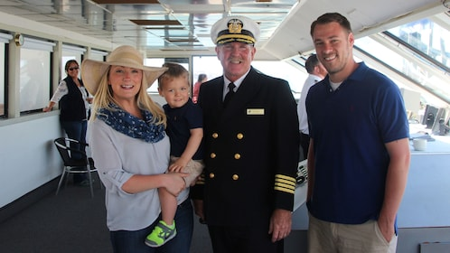 Take a family portrait with the captain of the ship while you cruise along Coronado Bay in San Diego