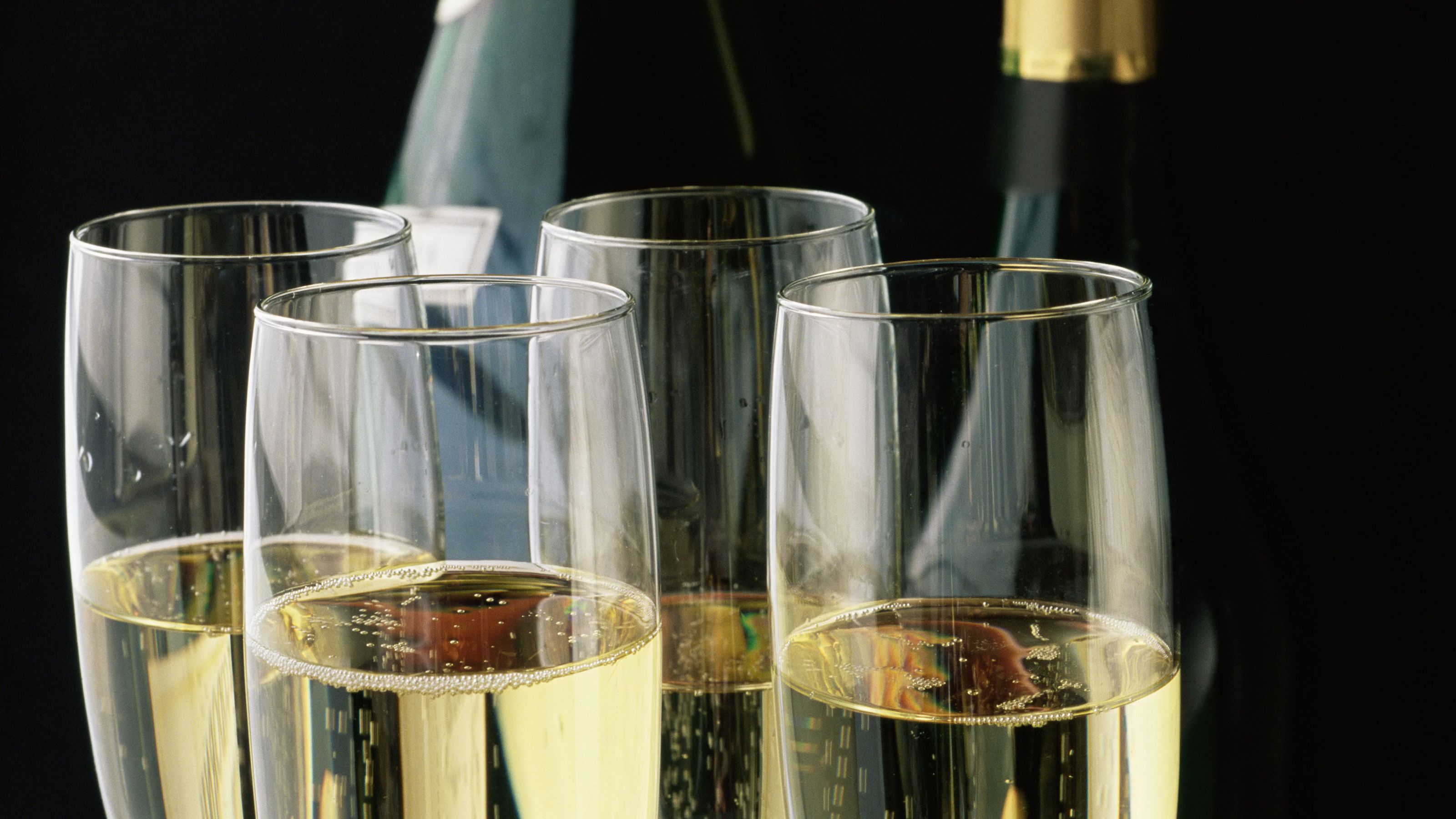 Enjoy dinner with a glass of champagne on the Starlight Dinner Cruise in Marina del Rey
