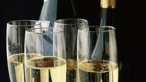 Enjoy a glass of champagne on the Starlight Dinner Cruise