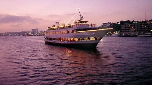 Gaze into the sunset onboard a luxury yacht cruise from Newport Beach
