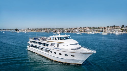 Aboard the champagne and brunch cruise at Newport Beach