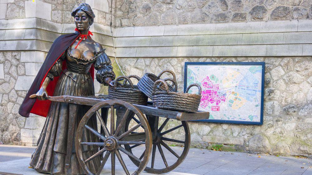 The Molly Malone statue in Dublin