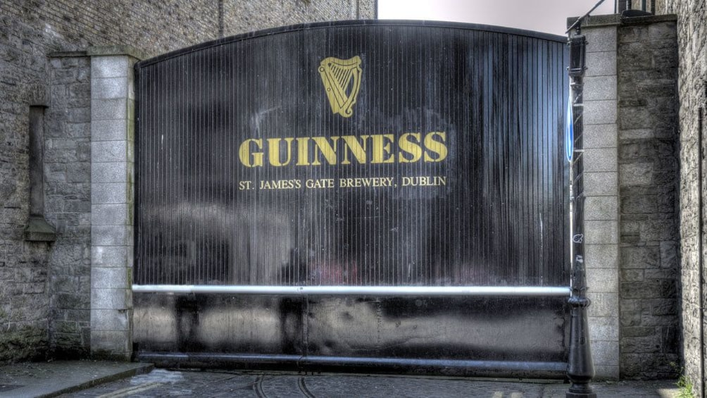 Show item 3 of 5. gate at Guinness brewery in Dublin