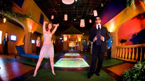 Wax sculptures of celebrities at the Ripley's Believe It or Not in Pattaya