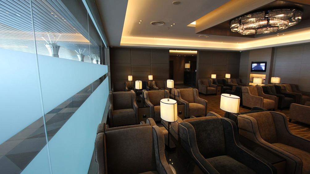 Show item 1 of 5. Seating at Kota Kinabalu International Airport Lounge