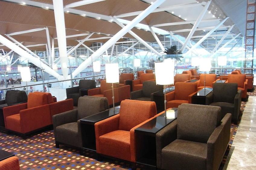 正在顯示第 3 張相片,共 9 張。 Plaza Premium Lounge at Indira Gandhi International Airport