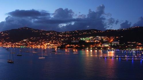 City lights of St. Thomas