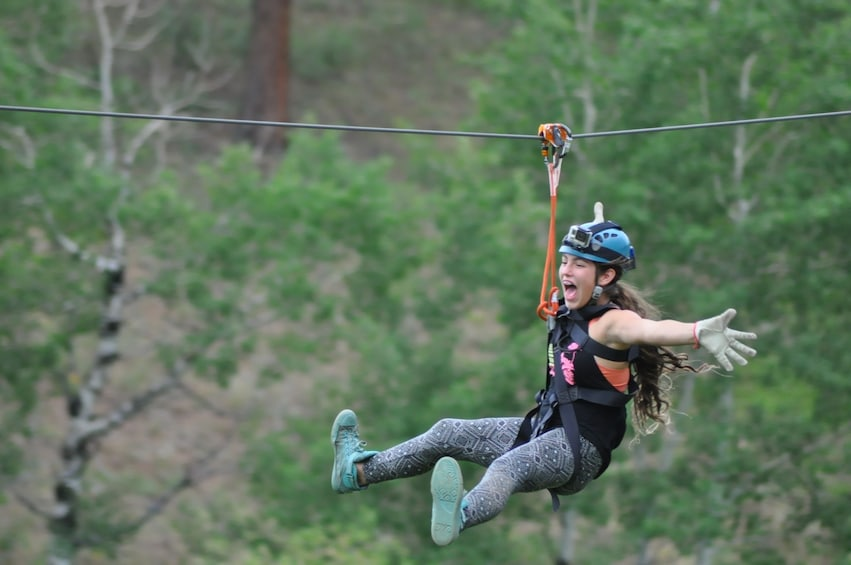 Show item 2 of 5. 6-Zipline Adventure in the Rocky Mountains