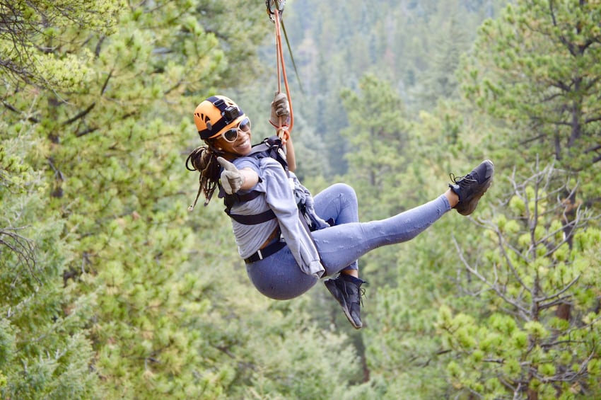 Show item 1 of 5. 6-Zipline Adventure in the Rocky Mountains