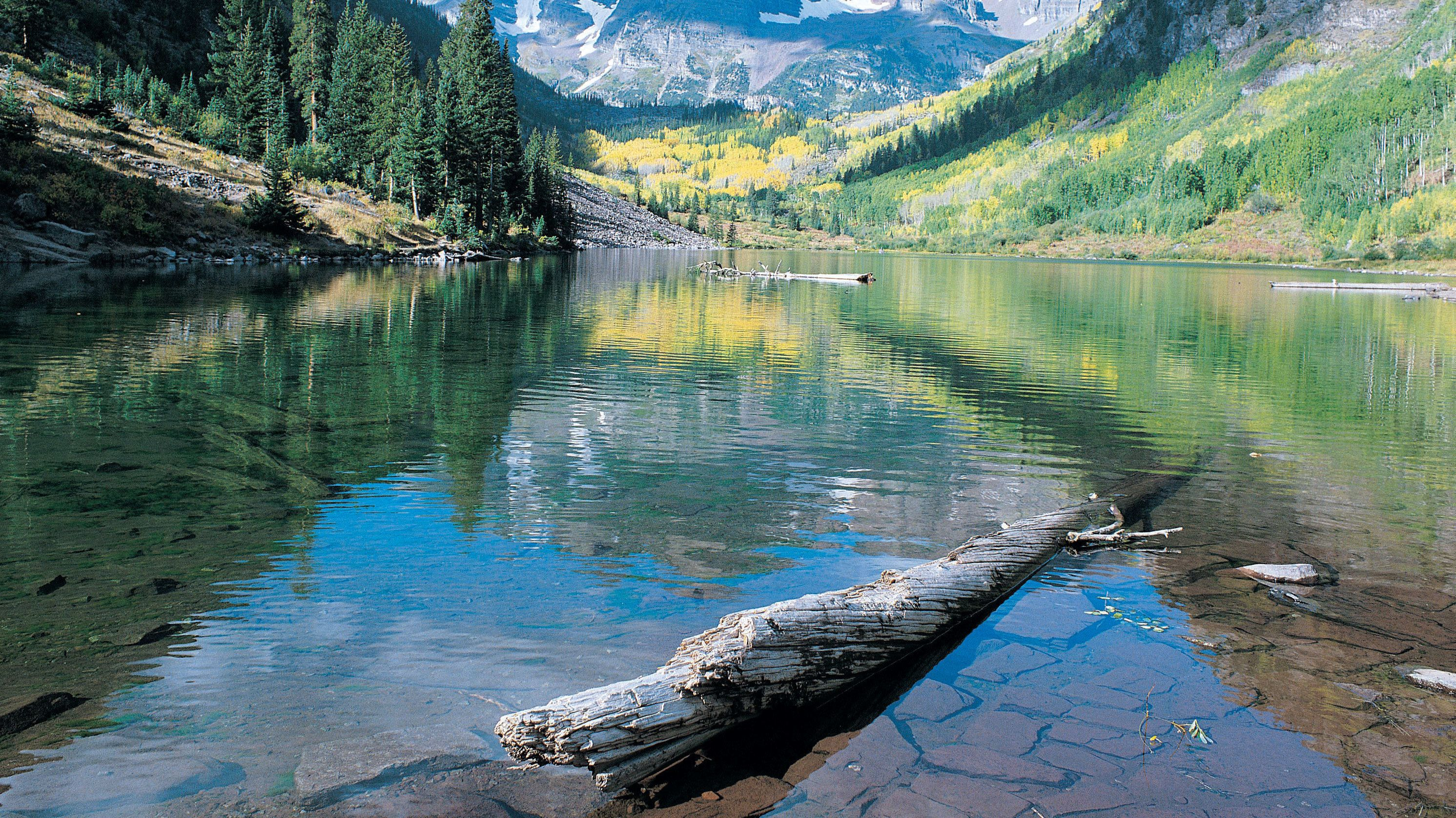 Calm and clear lake in Denver