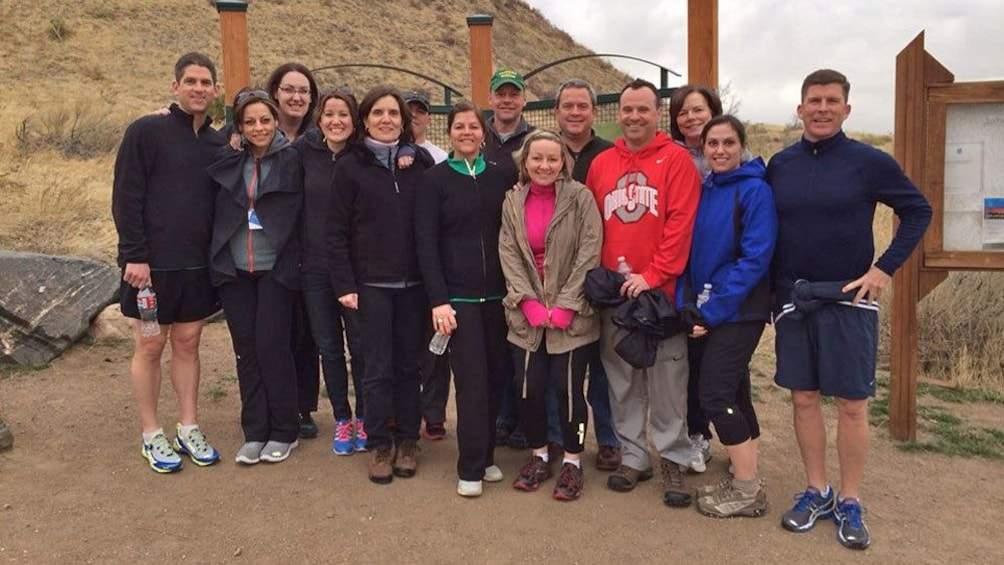 Group of hikers with guide in Denver