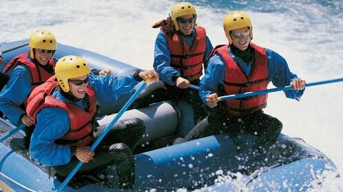 Water raft picking up speed in Denver