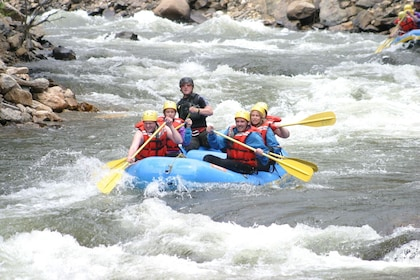 Guided Whitewater Rafting thru the Rockies- Half-Day