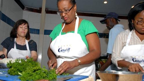 Demonstration at Graycliff Culinary Academy in Nassau