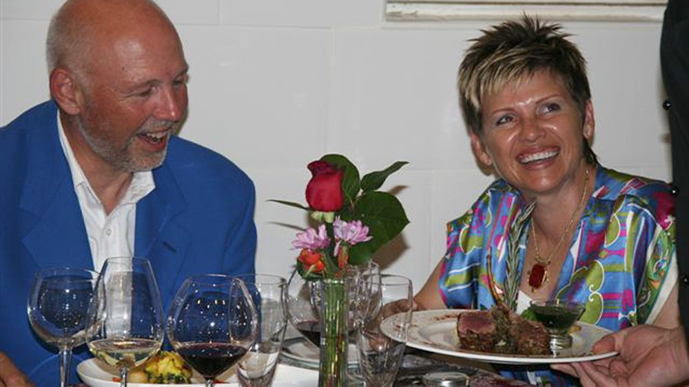 Diners at Chef's table in Nassau