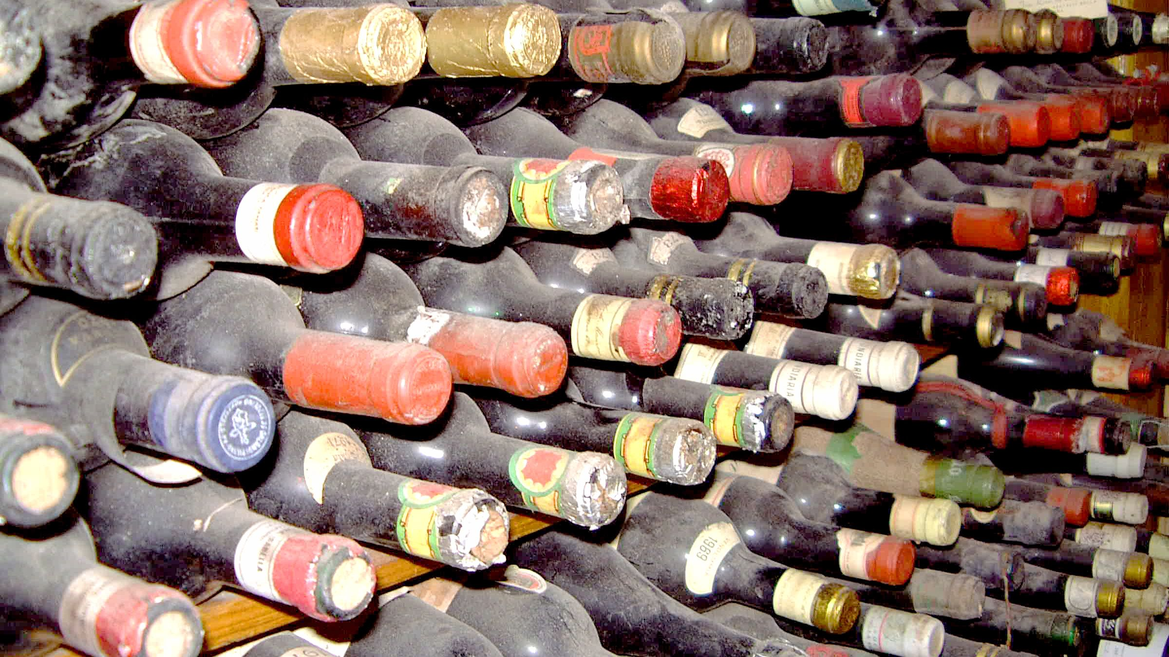 Wine collection at Chef's table in Nassau